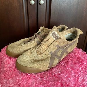 Onitsyka Tiger Leather Tan Brown Shoes Size 11